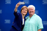 Nicola Sturgeon, Scotland's First minister, Val McDermid, Scottish crime writer